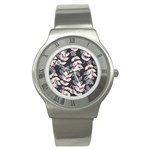 Winter Beautiful Foliage  Stainless Steel Watch Front