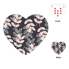 Winter Beautiful Foliage  Playing Cards (heart)