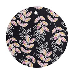 Winter Beautiful Foliage  Round Ornament (Two Sides)