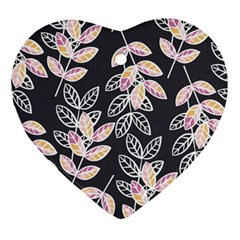 Winter Beautiful Foliage  Heart Ornament (2 Sides)
