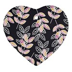 Winter Beautiful Foliage  Heart Ornament (2 Sides) Back