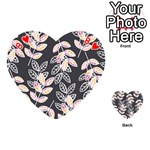 Winter Beautiful Foliage  Playing Cards 54 (Heart)  Front - Heart8