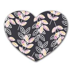Winter Beautiful Foliage  Heart Mousepads