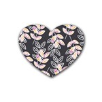 Winter Beautiful Foliage  Rubber Coaster (Heart)  Front