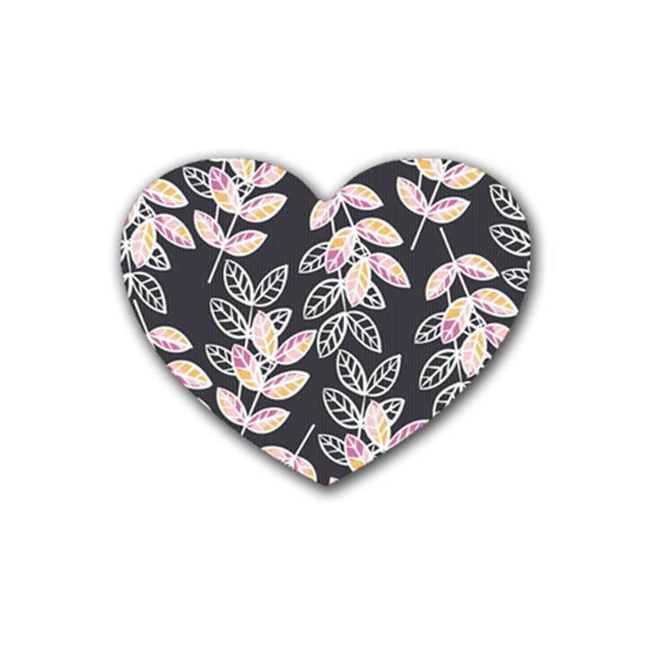 Winter Beautiful Foliage  Rubber Coaster (Heart)