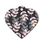 Winter Beautiful Foliage  Dog Tag Heart (Two Sides) Back