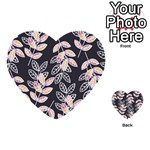 Winter Beautiful Foliage  Multi-purpose Cards (Heart)  Back 24