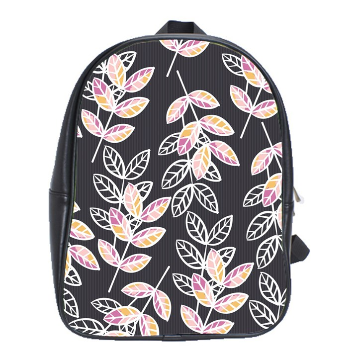 Winter Beautiful Foliage  School Bags(Large)