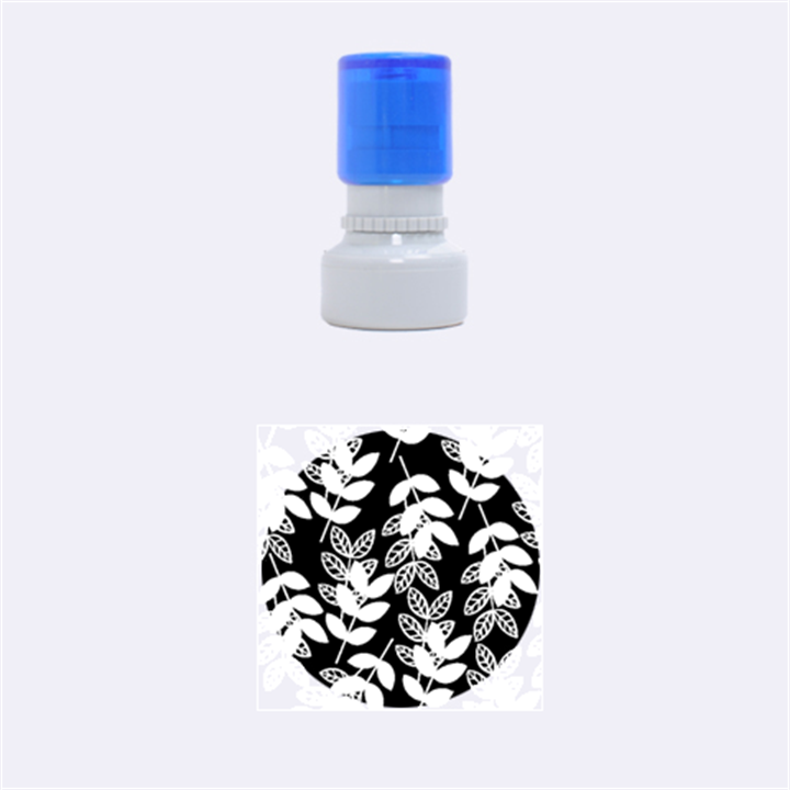 Winter Beautiful Foliage  Rubber Round Stamps (Small)