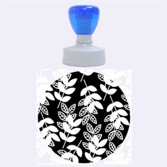 Winter Beautiful Foliage  Rubber Round Stamps (Large)