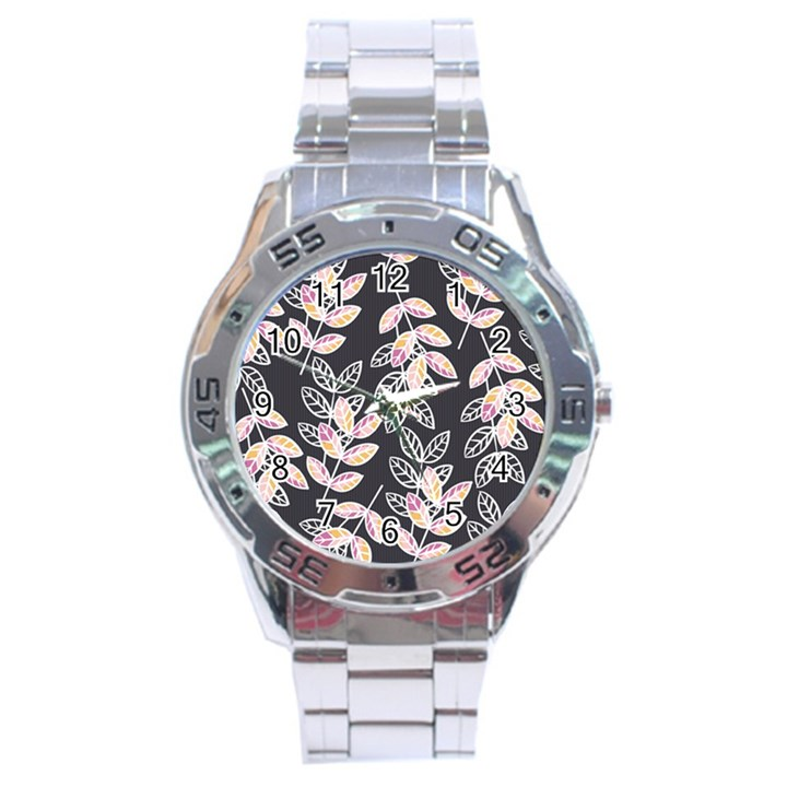 Winter Beautiful Foliage  Stainless Steel Analogue Watch