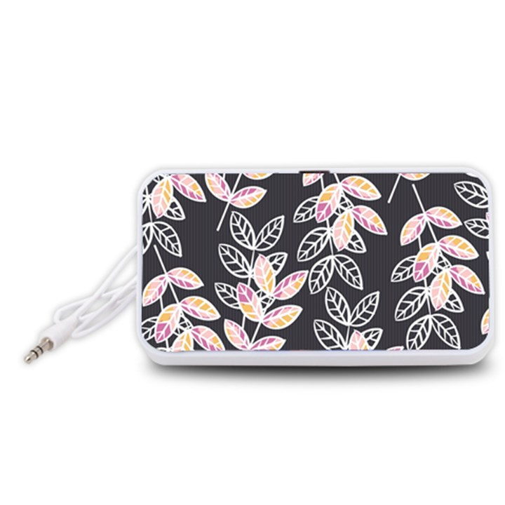 Winter Beautiful Foliage  Portable Speaker (White)