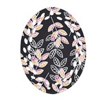 Winter Beautiful Foliage  Oval Filigree Ornament (2-Side)  Front