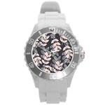 Winter Beautiful Foliage  Round Plastic Sport Watch (L) Front