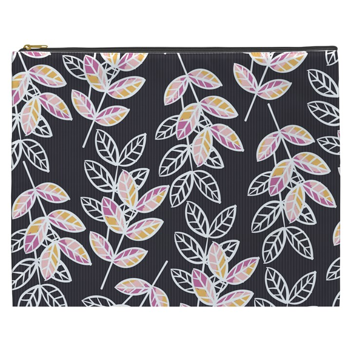 Winter Beautiful Foliage  Cosmetic Bag (XXXL)
