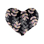 Winter Beautiful Foliage  Standard 16  Premium Heart Shape Cushions Front