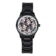 Winter Beautiful Foliage  Stainless Steel Round Watch