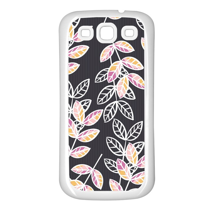 Winter Beautiful Foliage  Samsung Galaxy S3 Back Case (White)