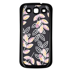 Winter Beautiful Foliage  Samsung Galaxy S3 Back Case (Black)