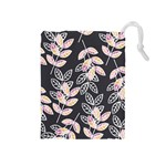 Winter Beautiful Foliage  Drawstring Pouches (Medium)  Front