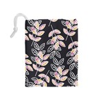 Winter Beautiful Foliage  Drawstring Pouches (Medium)  Back