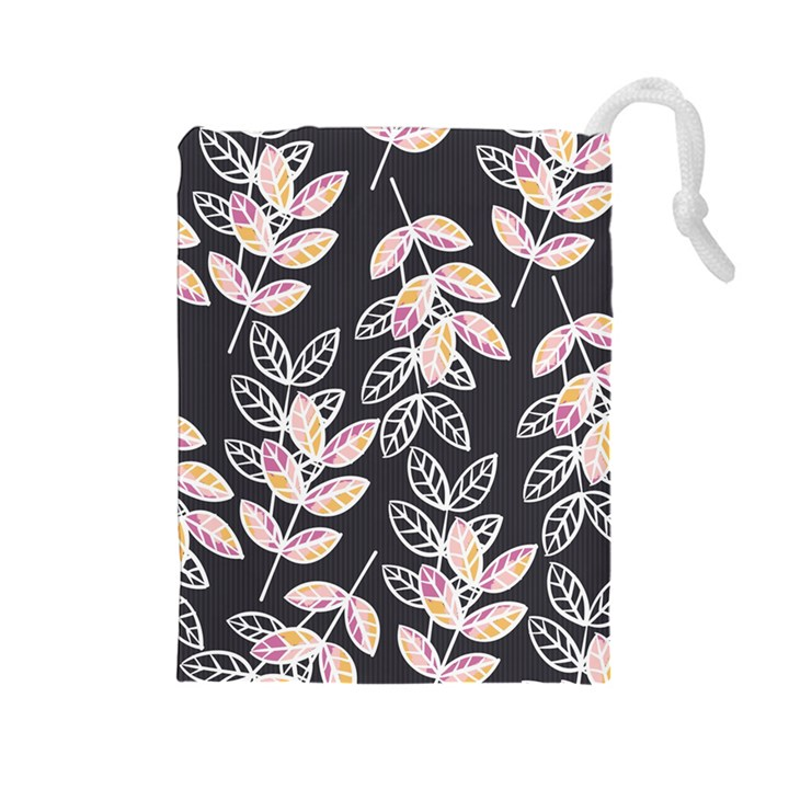 Winter Beautiful Foliage  Drawstring Pouches (Large)