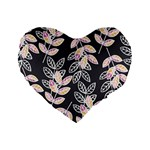 Winter Beautiful Foliage  Standard 16  Premium Flano Heart Shape Cushions Front