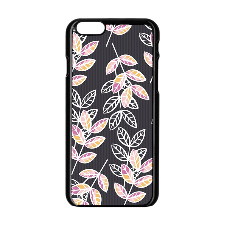Winter Beautiful Foliage  Apple iPhone 6/6S Black Enamel Case