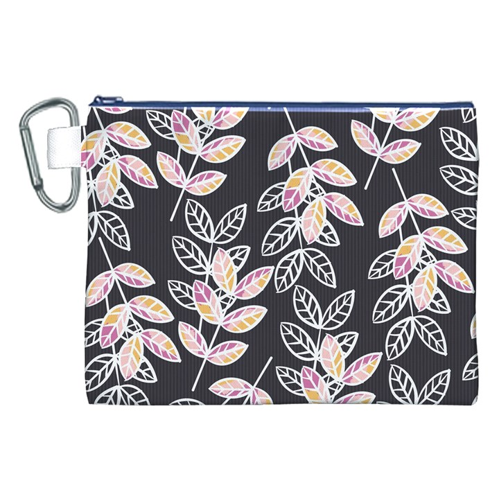 Winter Beautiful Foliage  Canvas Cosmetic Bag (XXL)
