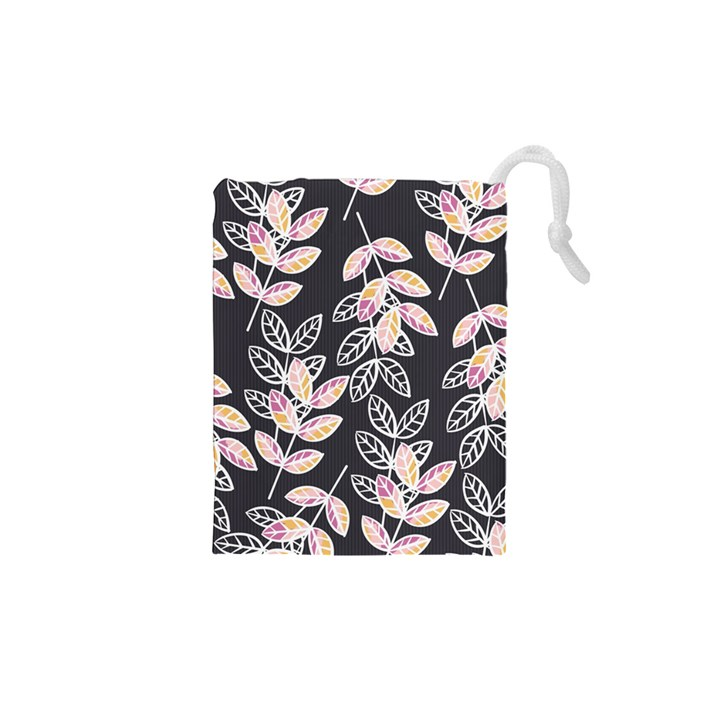 Winter Beautiful Foliage  Drawstring Pouches (XS)