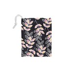 Winter Beautiful Foliage  Drawstring Pouches (XS)  Back