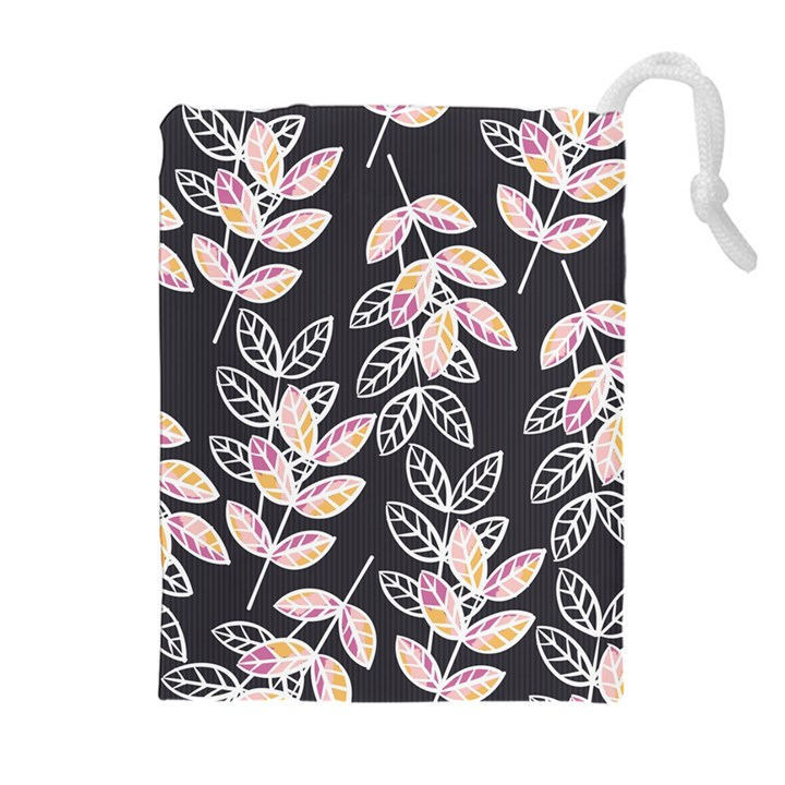 Winter Beautiful Foliage  Drawstring Pouches (Extra Large)