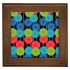 Vibrant Retro Pattern Framed Tiles