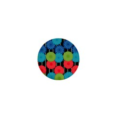 Vibrant Retro Pattern 1  Mini Magnets