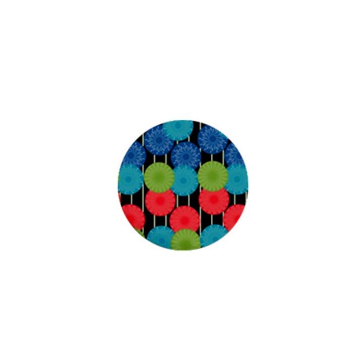 Vibrant Retro Pattern 1  Mini Magnets