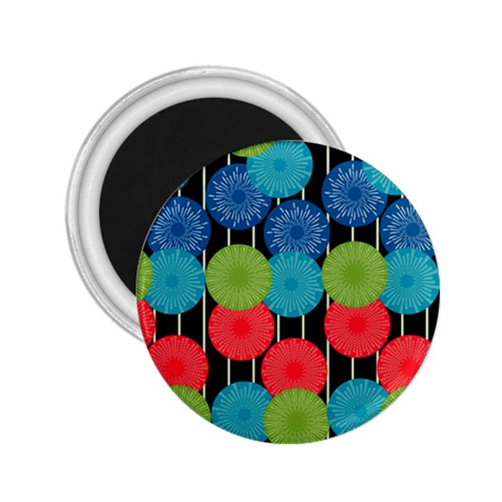 Vibrant Retro Pattern 2.25  Magnets