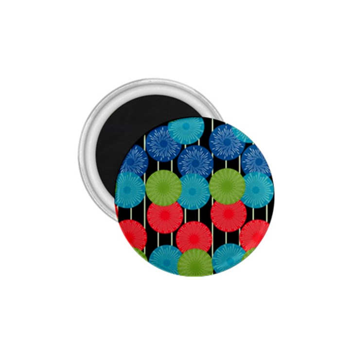 Vibrant Retro Pattern 1.75  Magnets