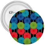 Vibrant Retro Pattern 3  Buttons Front