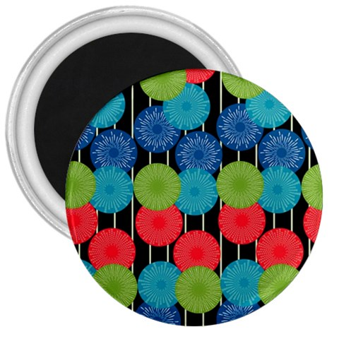 Vibrant Retro Pattern 3  Magnets