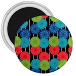Vibrant Retro Pattern 3  Magnets Front