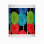 Vibrant Retro Pattern White Mugs Center