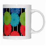 Vibrant Retro Pattern White Mugs Right