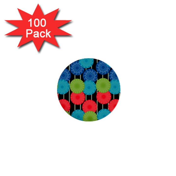 Vibrant Retro Pattern 1  Mini Buttons (100 pack)