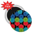 Vibrant Retro Pattern 2.25  Magnets (10 pack)  Front