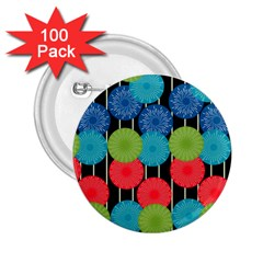 Vibrant Retro Pattern 2 25  Buttons (100 Pack)