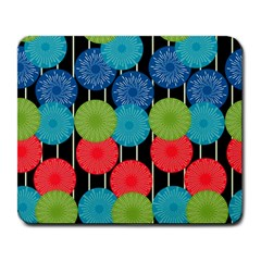 Vibrant Retro Pattern Large Mousepads