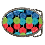 Vibrant Retro Pattern Belt Buckles Front