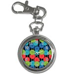 Vibrant Retro Pattern Key Chain Watches Front
