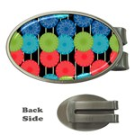 Vibrant Retro Pattern Money Clips (Oval)  Front