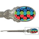 Vibrant Retro Pattern Letter Openers Front